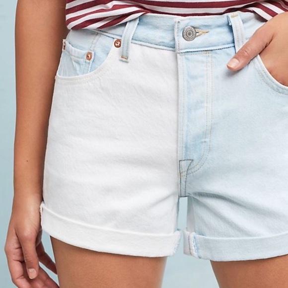 383c23fc Levi's Shorts | Levis 501 Two Tone High Waist Roll Up Jean | Poshmark